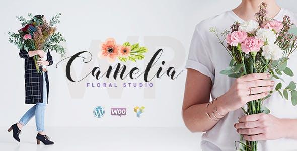 Top Wedding WordPress Themes in 2020 to create a Wedding flower shop - Camelia