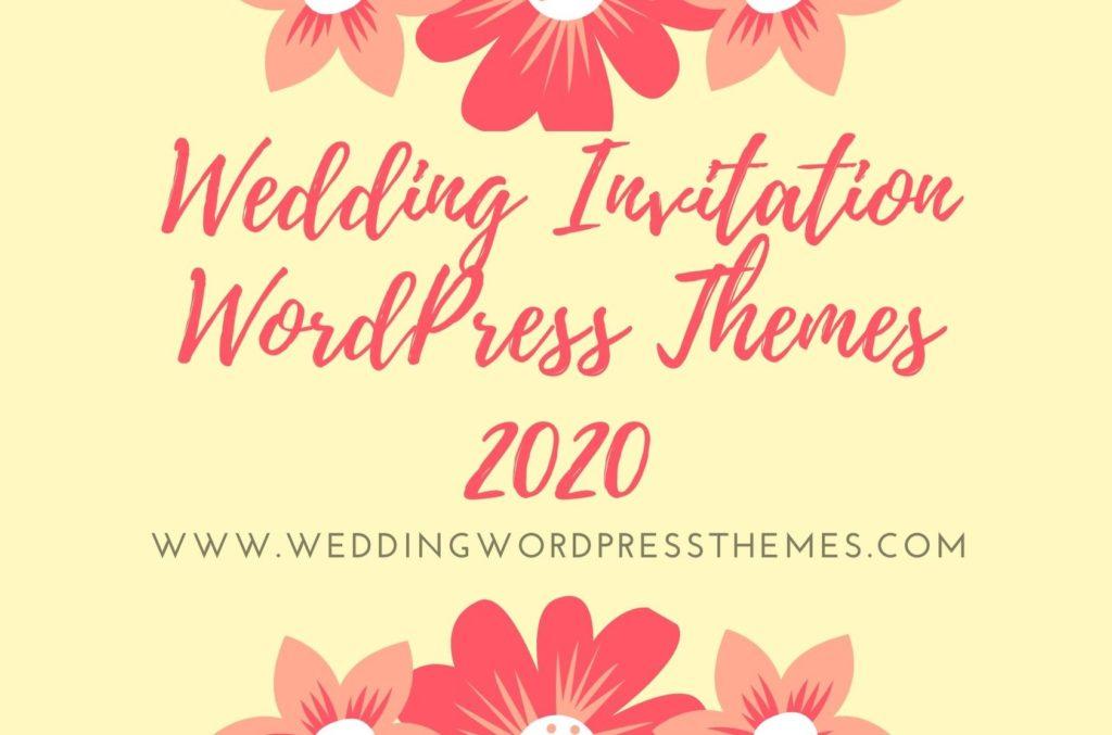 Wedding Invitation WordPress Themes 2020
