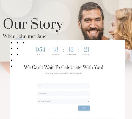 Top wedding invitation wordpress themes - Our Story
