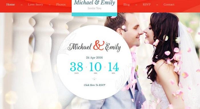 Top Wedding Invitation WordPress Themes - Wedding