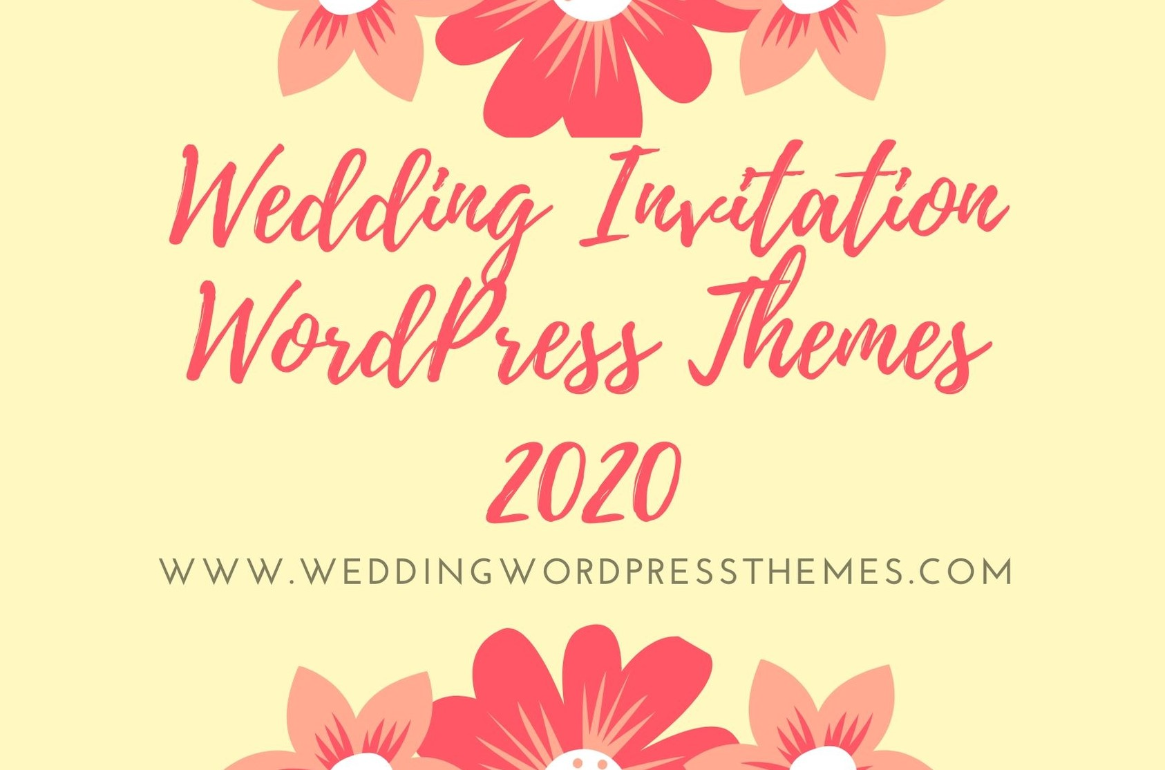 Wedding Invitation Wordpress Themes 2020