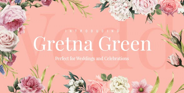 Wedding Invitation WordPress Themes 2020 - Greta Green