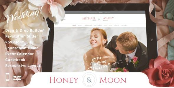 Wedding Invitation WordPress Themes 2020 - Honeymoon