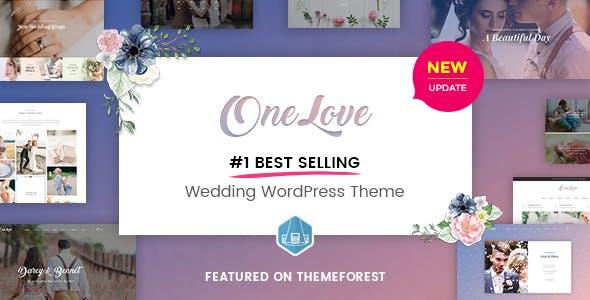 Wedding Invitation WordPress Themes 2020 - One Love