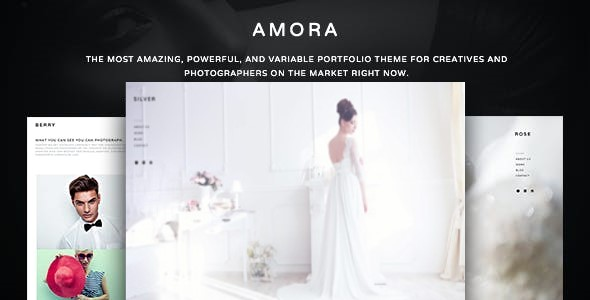 Top Wedding Photography WordPress Themes 2020 - Amora