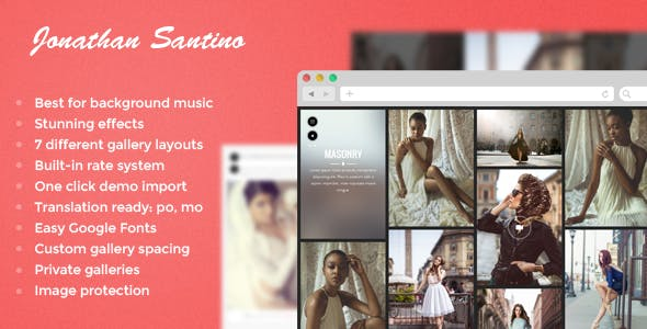 Top Wedding Photography WordPress Themes 2020 - Santino