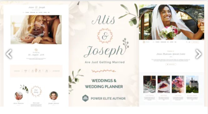 Top Wedding Planner WordPress Themes 2020 - Alis