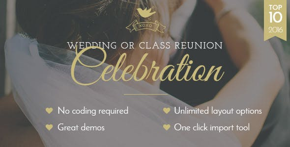 Top Wedding Planner WordPress Themes 2020 - Celebration