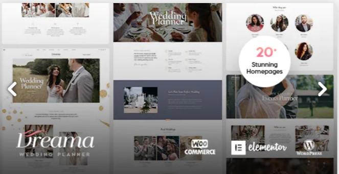 Top Wedding Planner WordPress Themes 2020 - Dreama