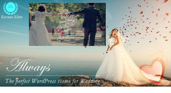 Save the Date Wedding WordPress Theme - Always