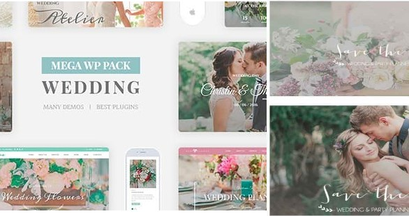 Top Wedding WordPress Theme for Save the Date 2020- Wedding Industry