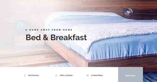 Top Wedding Venue WordPress Theme - Bed & Breakfast