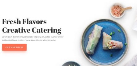 Top Wedding Venue WordPress Theme - Food Catering