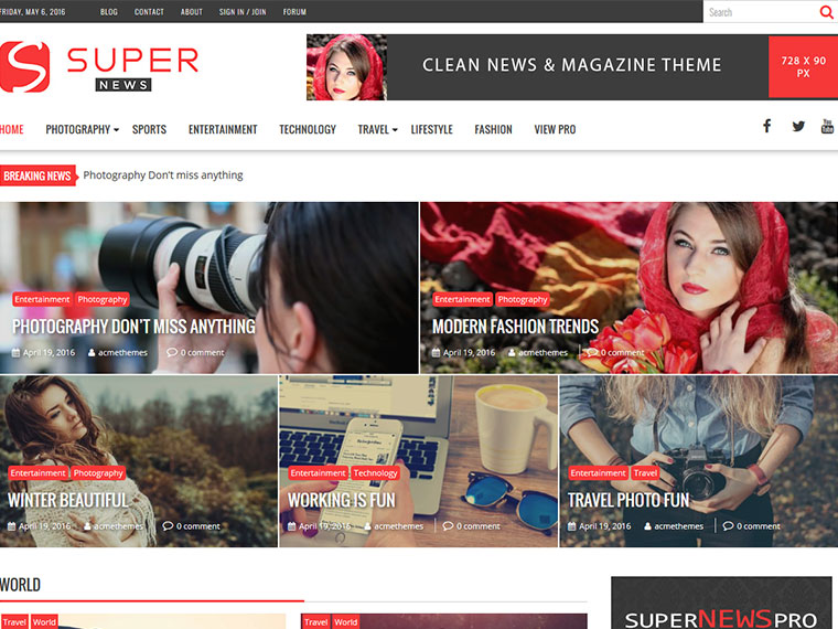 Free Wedding Magazine WordPress Themes 2020 - Super News
