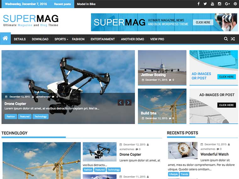 Free Wedding Magazine WordPress Themes 2020 - SuperMag