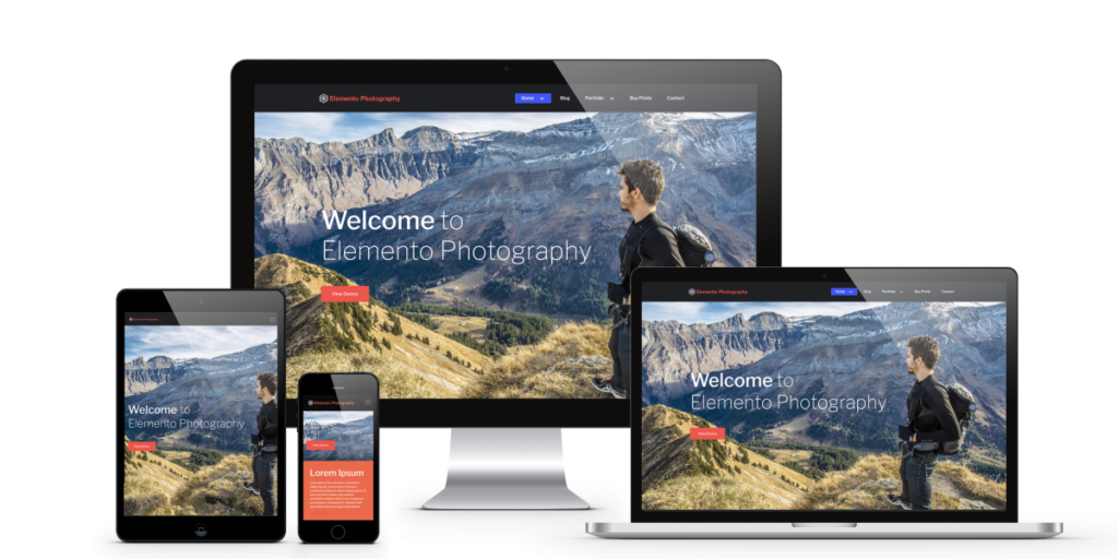 Free Wedding Photography WordPress Themes 2020 - Elemento Photography