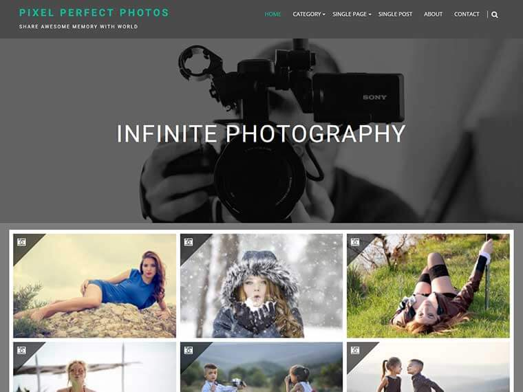 Free Wedding Photography WordPress Themes 2020 - Infinite Photgraphy