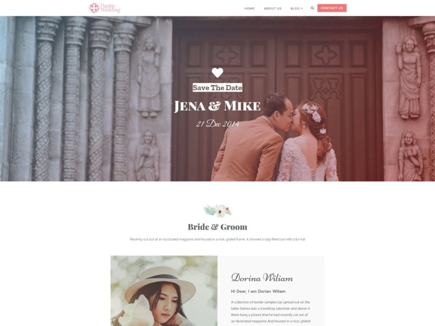 Top Free Wedding WordPress Themes 2020 - Happy Wedding Day