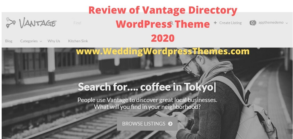 Vantage Directory WordPress Theme - Rating and Review