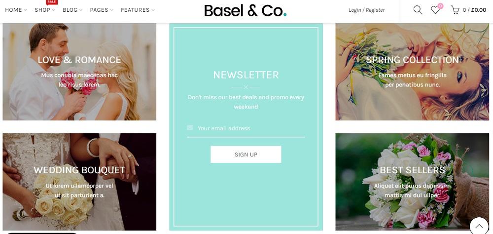 Wedding Flower Shop WordPress Theme - Basel