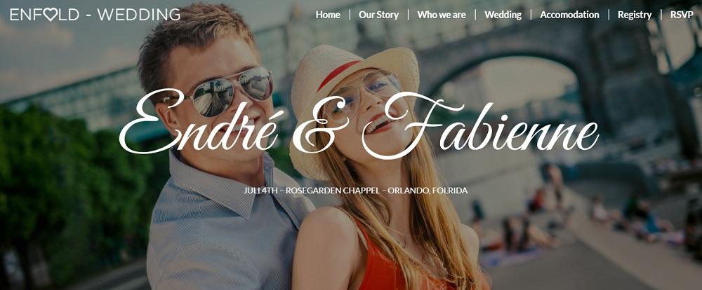 Wedding RSVP WordPress theme - Enfold