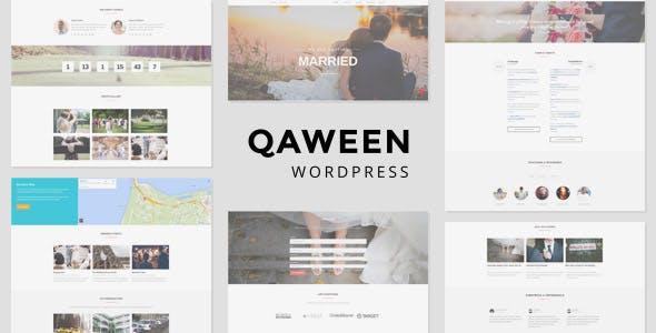 Wedding Invitation WordPress Themes 2020 - Qaween