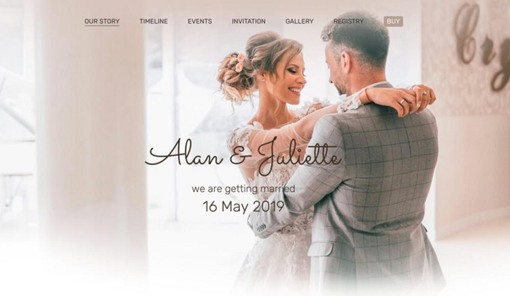Wedding RSVP WordPress Theme - Kalium