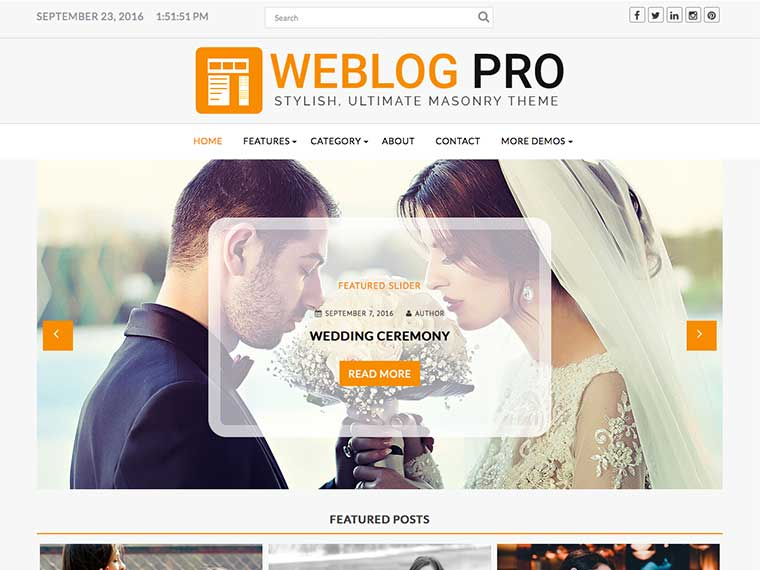 Top Wedding Magazine WordPress Themes 2020 - Weblogpro