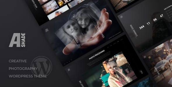 Wedding Photography WordPress Theme - Ashade