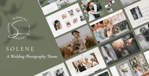 Wedding Photography WordPress Theme - Solene