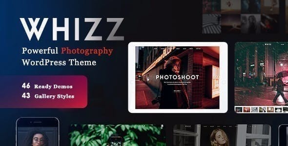 Wedding Photography WordPress Theme - Whizz