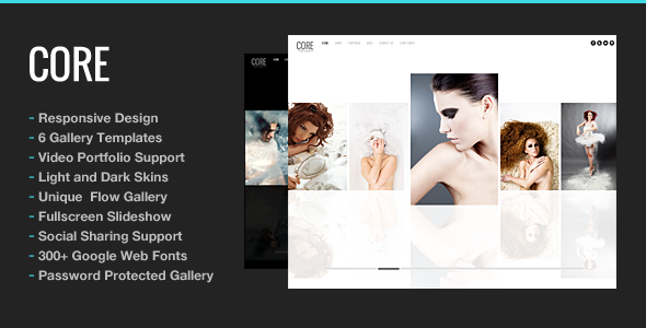 Wedding Photography WordPress Theme - Core