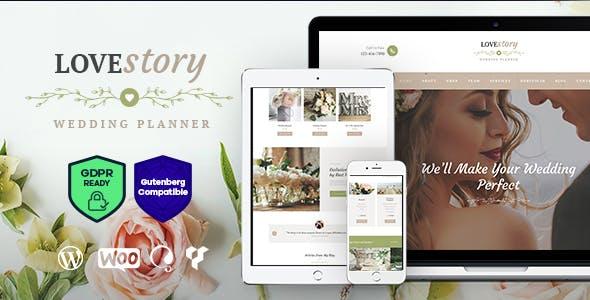 Top Wedding Planner WordPress Themes 2020 - Love Story