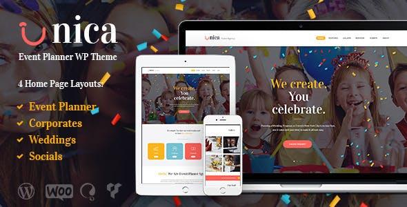 Top Wedding Planner WordPress Themes 2020 - Unica