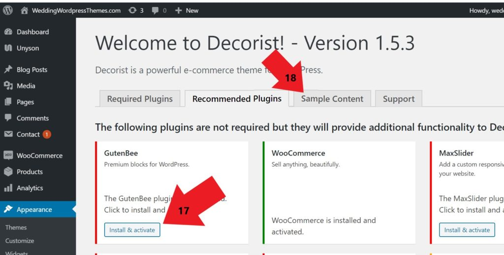 Create an online store with WordPress Theme Decorist