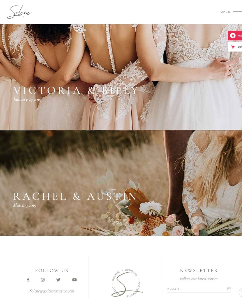 How to create a wedding photography website with WordPress Theme