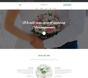 Wedding Planner WordPress Theme - Ceremony
