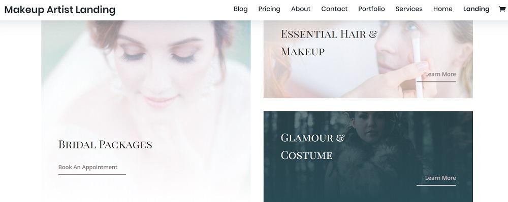 Wedding Hair and makeup WordPress Theme - Makeup Artist