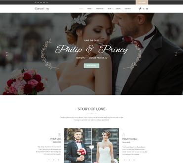 Wedding RSVP Wedding Website - Ceremony